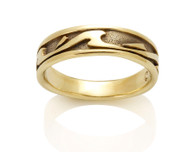 Womens Narrow Wave Ring David Virtue Jewelry