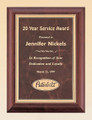 Cherry finish Cherry Finish Recognition Award Plaque with Ruby Marble Plate, Laser engraved