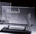 Crystal Golf Award, aluminum accents