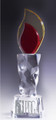 Clear, Amber and Red Crystal Torch Award