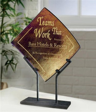 Iridescent Bronze Fused Art Glass Award