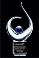 Glass Art Award Ovation. Free engraving.