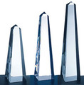 "MASTER OBELISK CRYSTAL AWARDS, 8"", 3 sizes available"