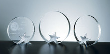 ALL AROUND STAR CRYSTAL AWARD, 3 sizes available