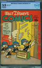 WALT DISNEY'S COMICS AND STORIES #13 (1941) CBCS 3.5 VG-
