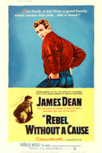 "Rebel without a Cause (1955) Poster (40"" X 60"") Style Z - James Dean RARE style!"