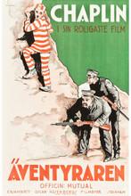 "Charlie Chaplin - The Adventurer (Mutual, R-1920s) Swedish One Sheet (22.5"" X 35"")"