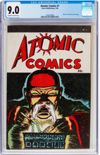 Atomic Comics #1 (1946) CGC VF/NM 9.0 Classic Cover