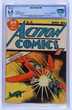 Action Comics #10 (1939)  CBCS 6.5 Fine + 3rd Superman cover