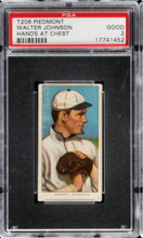 1910 T206 Walter Johnson PSA 2