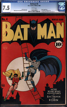 Batman #04 CGC 7.5 VF- 1st Gotham City