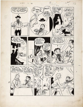 "Bob Montana - Pep Comics #30 ""The Escort Agency"" Archie Page Original Art (MLJ, 1942)"