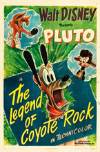 "Mouse over image to zoom Have one to sell? Sell now Pluto in "" the Legend of Coyote Rock"" (1945) One Sheet Disney Cartoon poster"