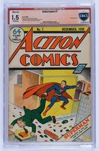 Action Comics #07 (1938) CBCS 1.5 (M) 2nd Superman cover