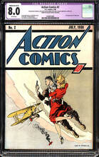 Action Comics #02 (1938) CGC 8.0 VF (A-3) WHITE pgs 2nd Superman