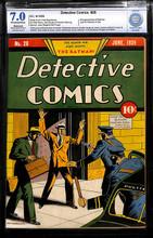 Detective Comics #28 (1939) CBCS 7.0 FVF 2nd Batman