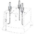 Model HUB3-6 DMX Sections 3-6 Hinge-Up Base
