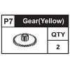07-89100P7  Gear Yellow