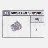 08-Output Gear 10T (White)