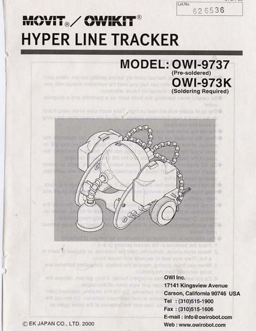 Hyper Line Tracker (OWI-9737) Manual