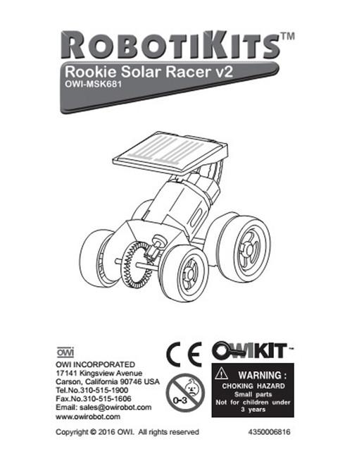 Rookie Solar Racer V2 Manual