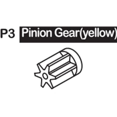 03-6150P3 PINION GEAR (YELLOW)