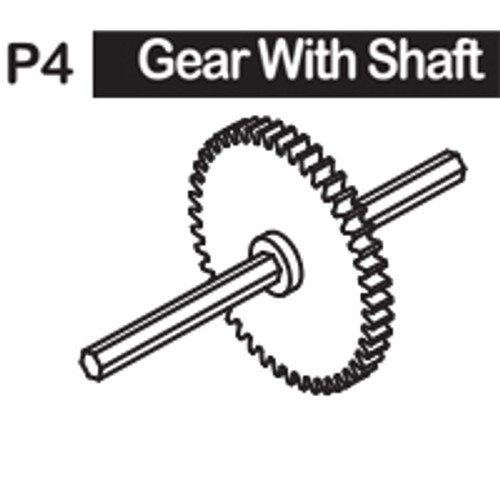 04-6150P4 GEAR WITH SHAFT