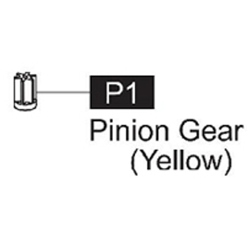 01-61600P1 Pinion Gear (Yellow)