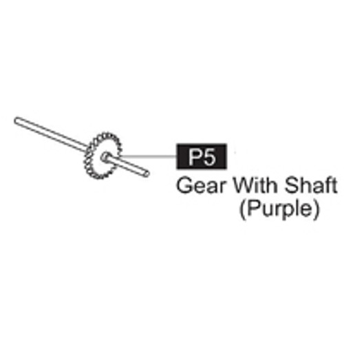 05-61600P5  Gear With Shaft (Purple)