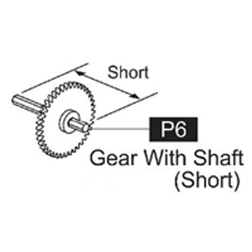 06-61700P6 Gear With Shaft (Short)