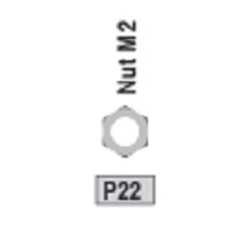 22-3730P22 P22 Nut M2