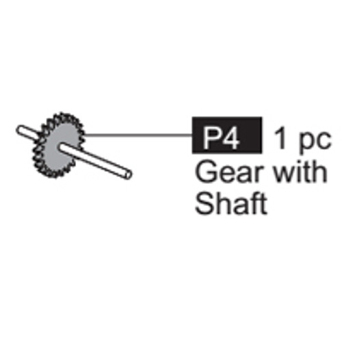 04-64100P4  Gear with shaft