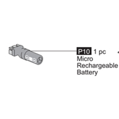 10- 64100P10  Micro Rechargeable Battery