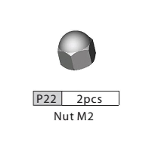 22-3510P22 P22 Nut M2