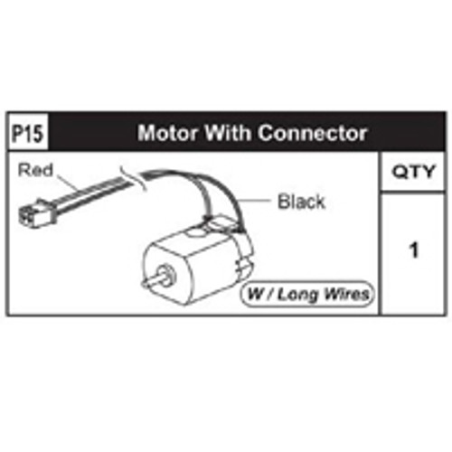 15-89200P15 Motor W/ Connector (Long)