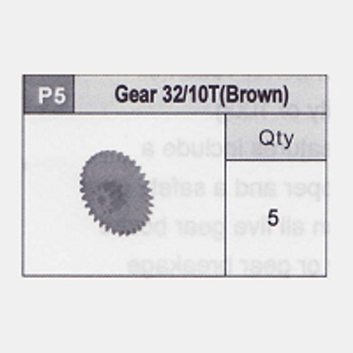 05-5350P5 Gear 32/10T (Brown)