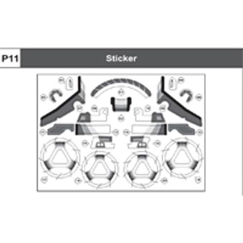 08-75400P11  Sticker