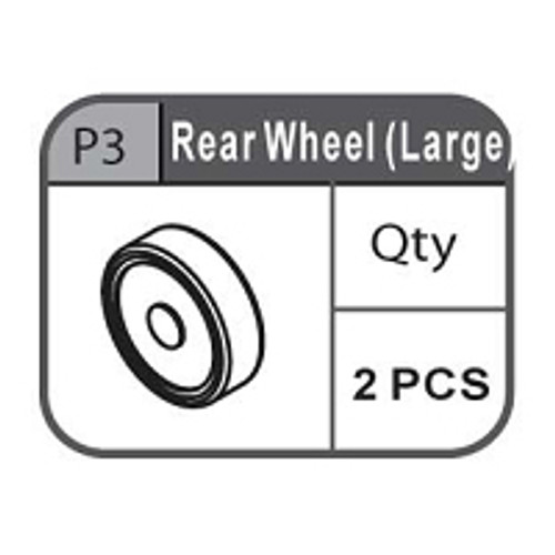 03- 67100P3 REAR WHEEL (LARGE)