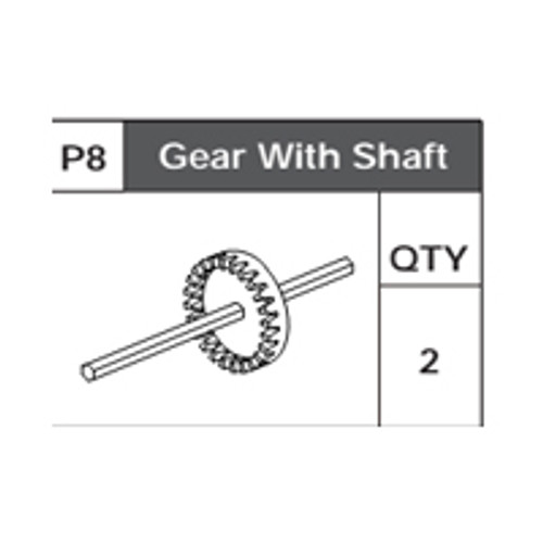 08-75200P8 Crown Gear With Shaft