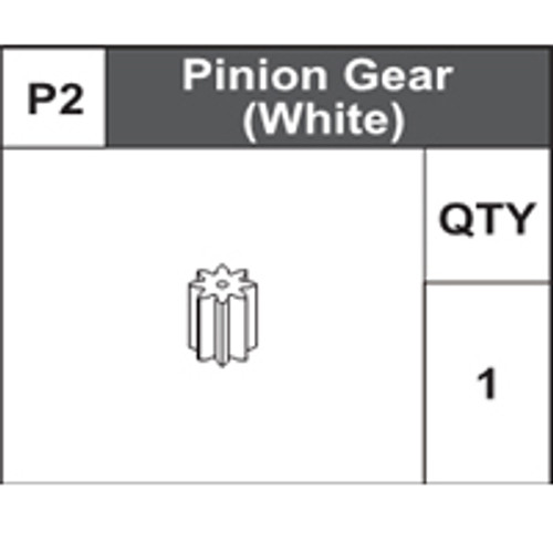 02-75100P2 Pinion Gear (White)