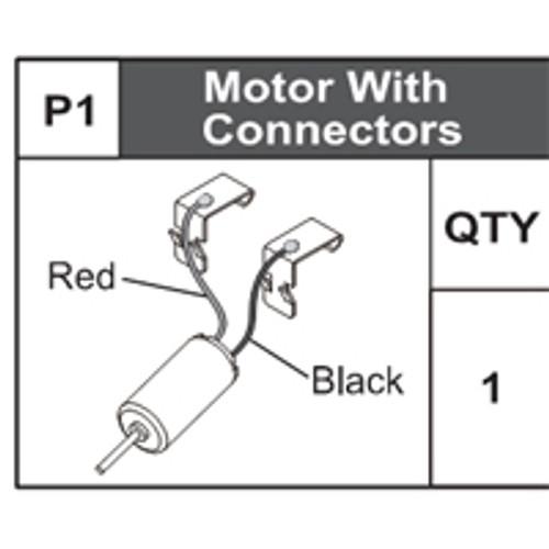 01-75000P1 Motor With Connectors