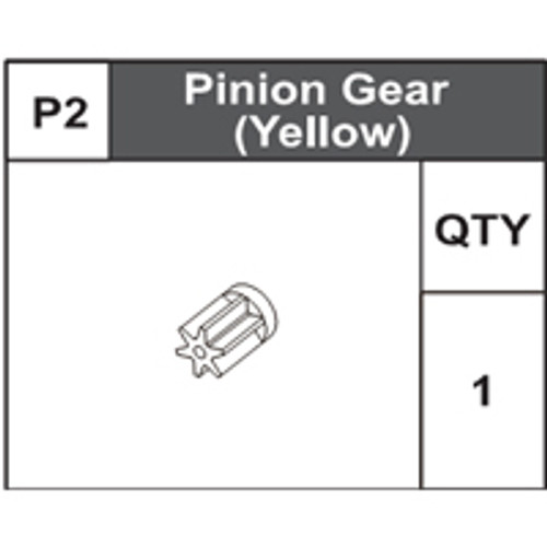 02-75000P2 Pinion Gear (Yellow)