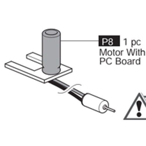 08-69100P8  Motor With PC Board