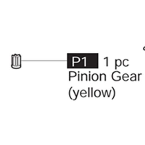 01-69000P1 Pinion Gear (Yellow)