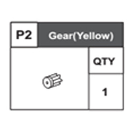 02-68400P2 Pinion Gear (Yellow)