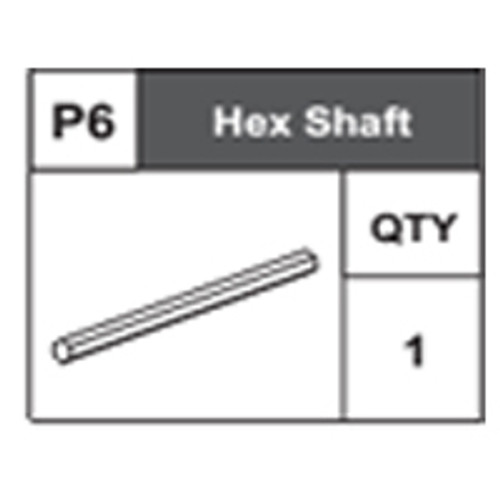 06-68400P6 Hex Shaft