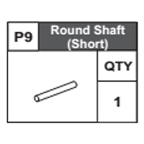 09-68300P9 Round Shaft (Short)