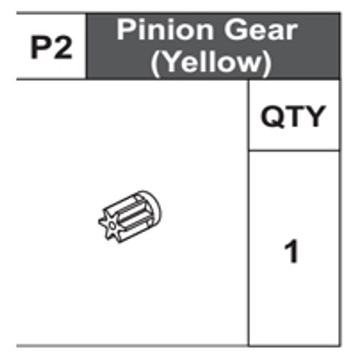 02-68200P2 Pinion Gear (Yellow)