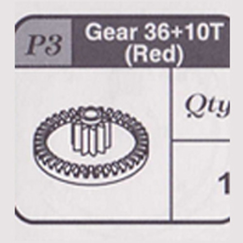 03-67900P3 Gear 36+10T (Red)