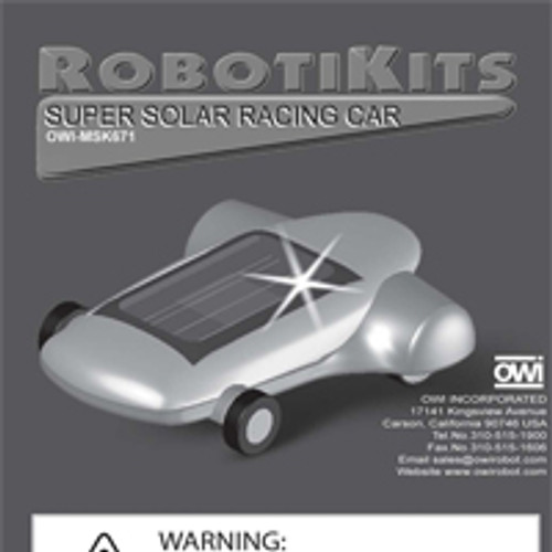 Super Solar Racing Car Instruction Manual